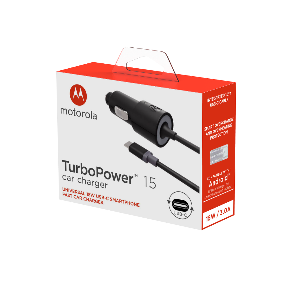 Motorola TurboPower 15 USB-C Car Charger