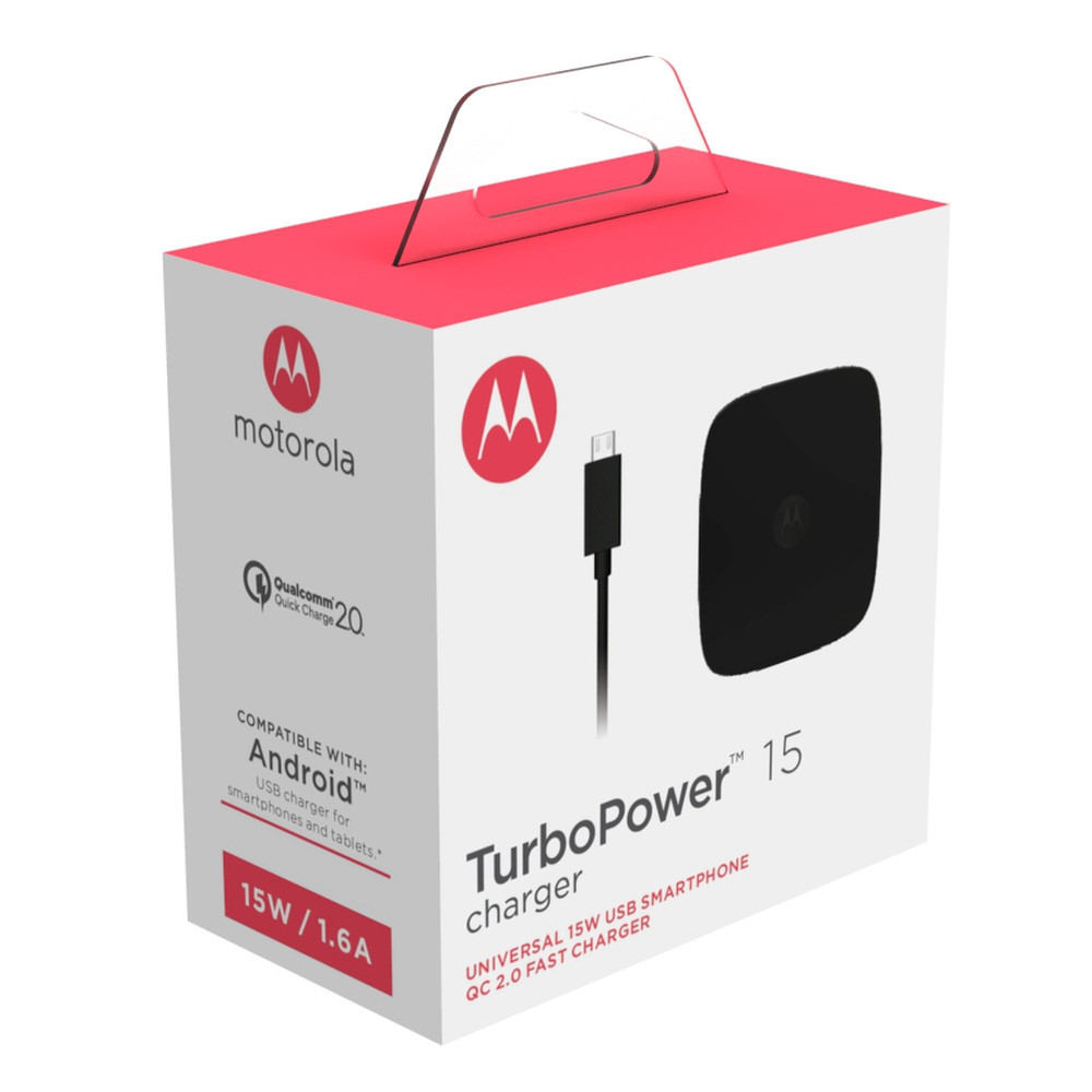 Motorola TurboPower 15 Wall Charger + Micro-USB Data Cable