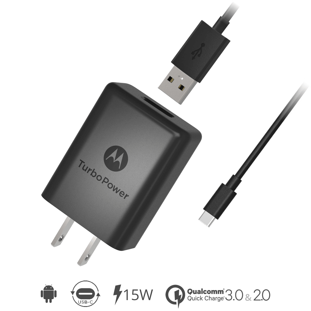 Motorola TurboPower 15+  Wall Charger + USB-C Data Cable