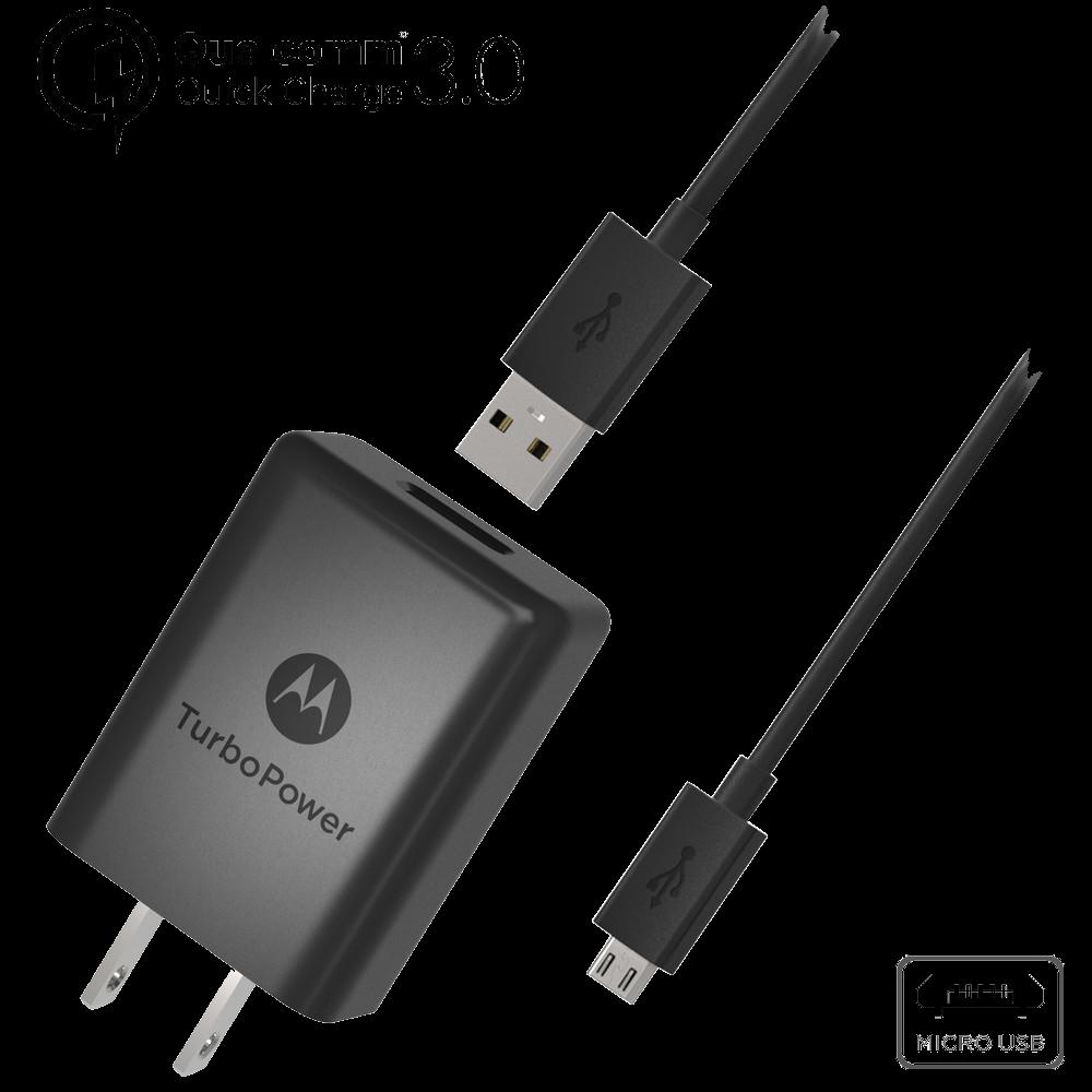 Motorola TurboPower™ 15+ Wall Charger + Micro-USB Data Cable