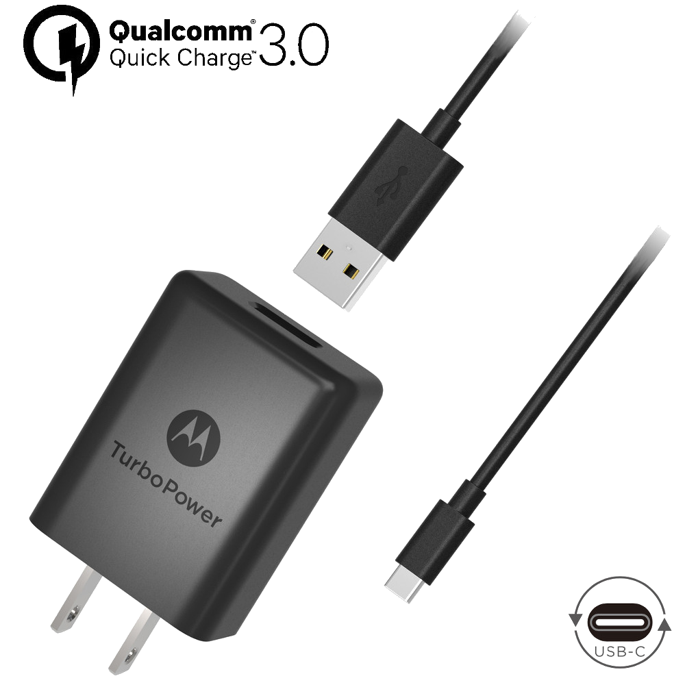 Motorola TurboPower™ 15+ Wall Charger + USB-C Data Cable