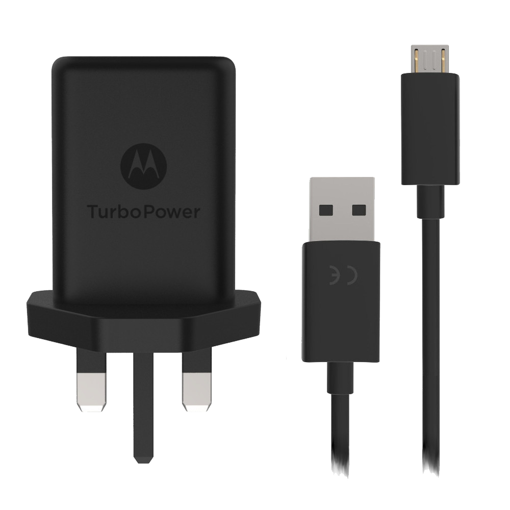 Motorola TurboPower 15+ Mains Mobile Charger + Micro-USB Cable