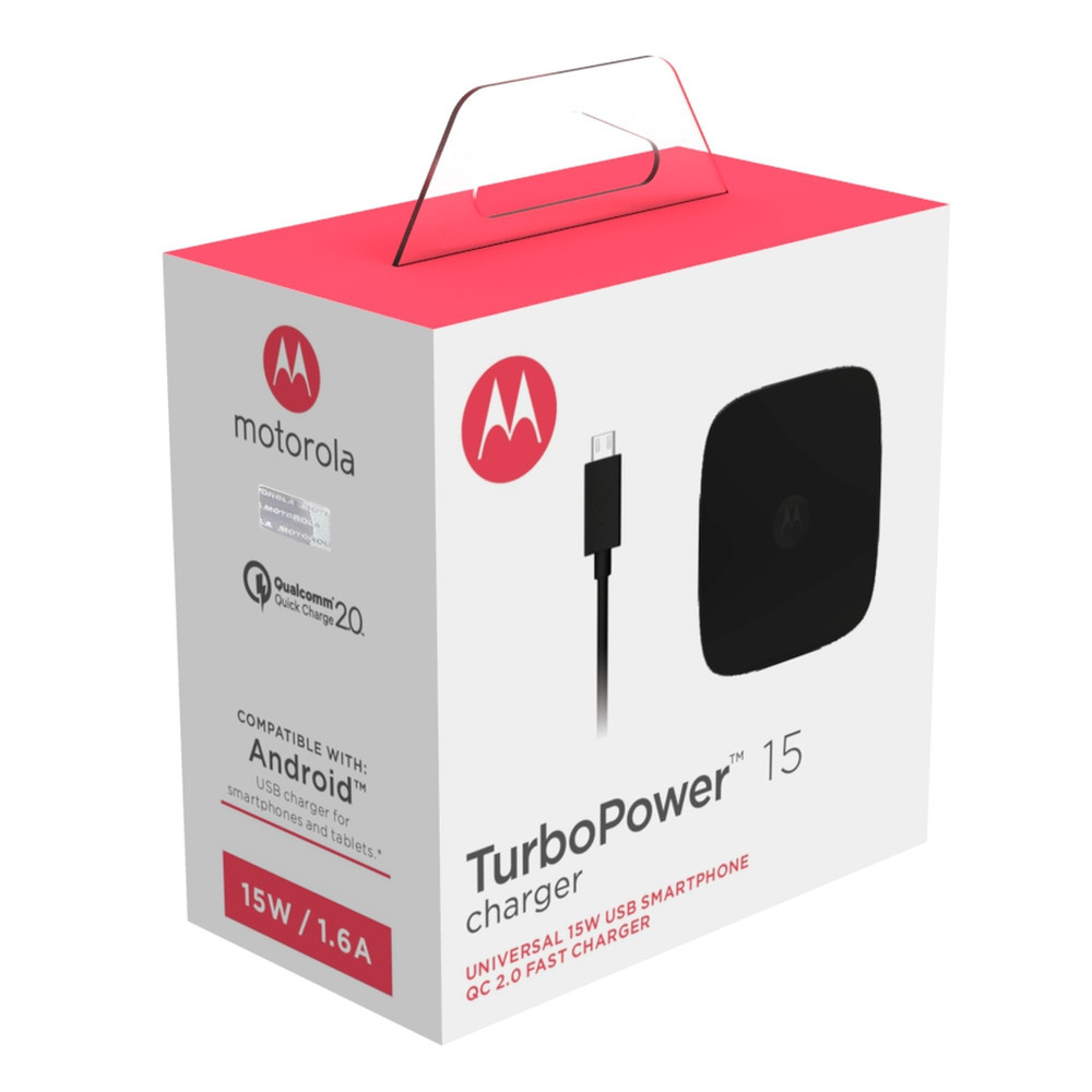 Motorola TurboPower 15 Mains Mobile Charger + Micro-USB Cable