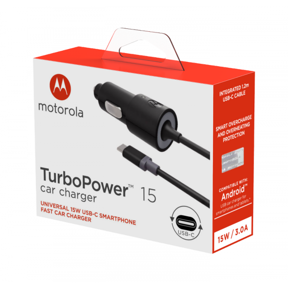 Motorola TurboPower 15 USB-C Mobile Car Charger
