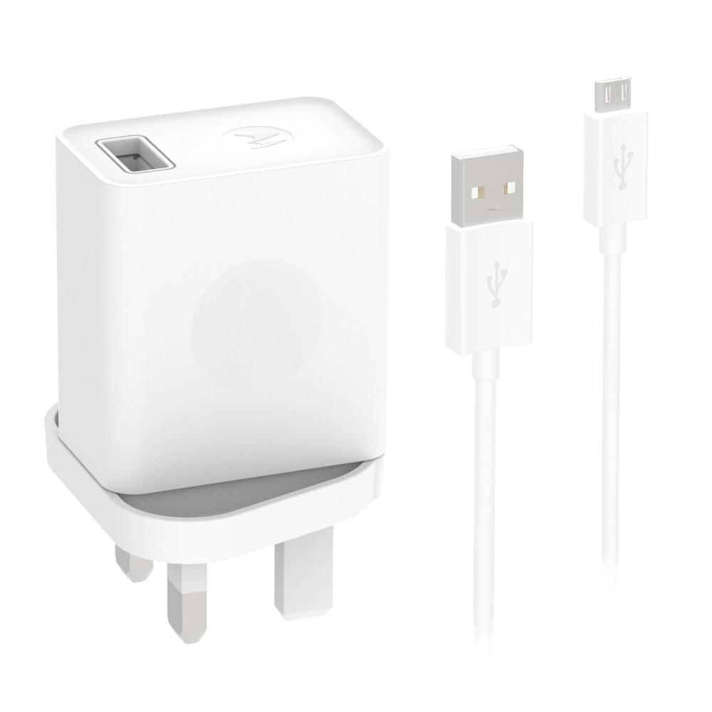Motorola Rapid USB Mains Mobile Charger + Micro-USB Cable