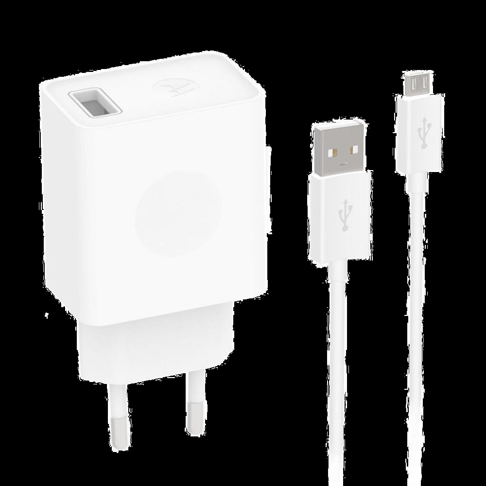 Chargeur Rapide USB Motorola + Câble de Données Micro-USB