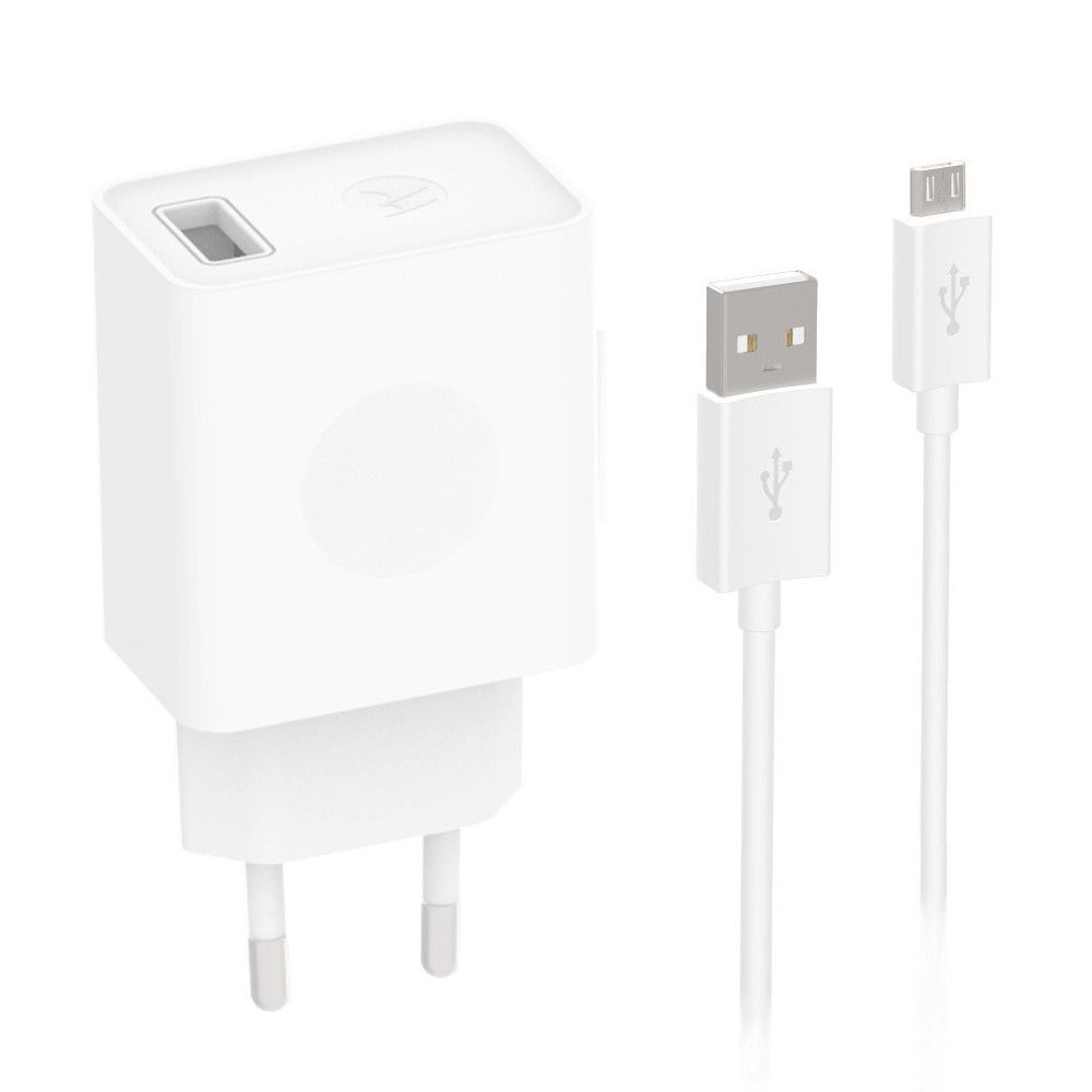 Motorola Cargador Rápido USB + Cable de Datos Micro-USB