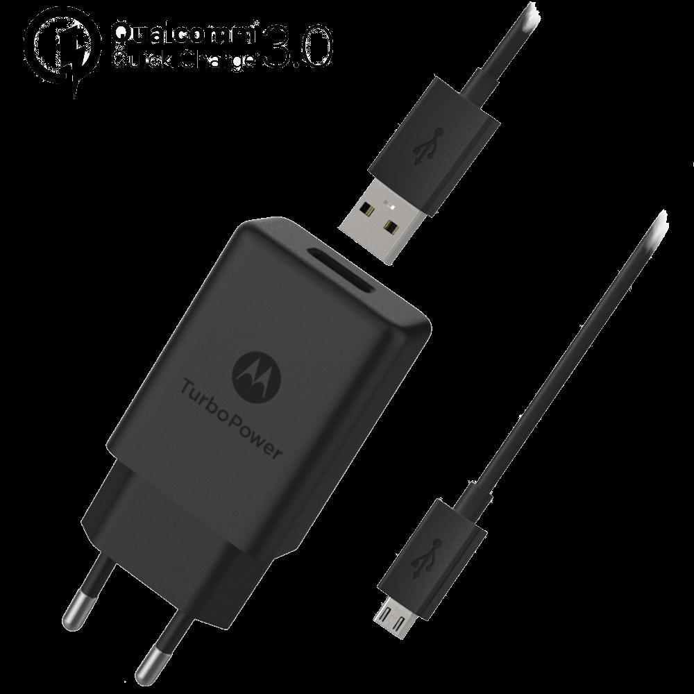 Motorola TurboPower™ 15+ Caricabatterie da Parete + Cavo Dati Micro-USB