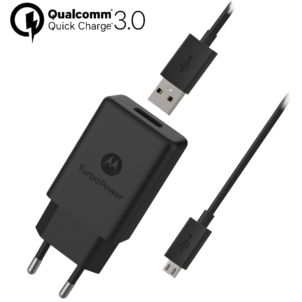Motorola TurboPower™ 15+ Wandoplader + Micro-USB-Datakabel