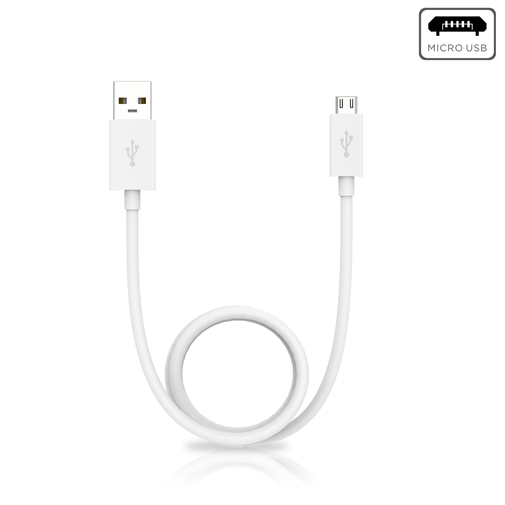 Motorola Data/Charging Cable USB-A To Micro USB - White