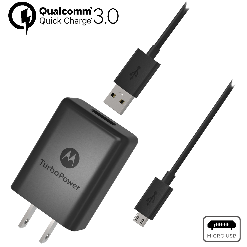 Motorola TurboPower™ 15+ Cargador de Pared con Cable de Datos Micro-USB