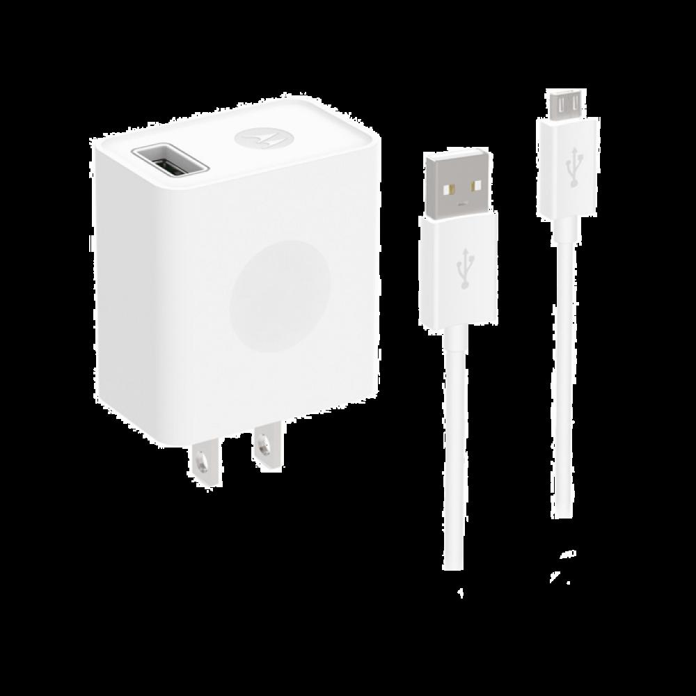 Motorola Cargador Rápido USB con Cable de Datos Micro-USB