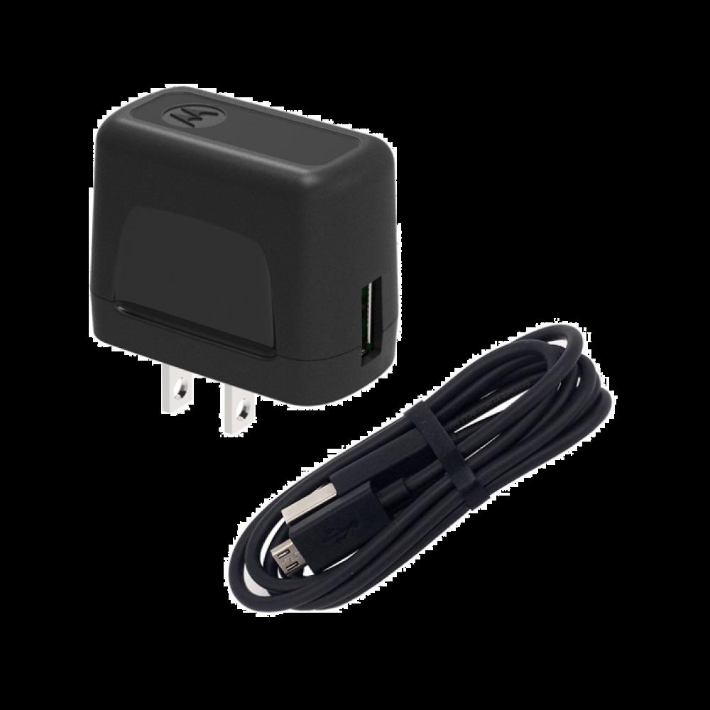 Chargeur Mural USB Motorola + Câble de Données Micro-USB