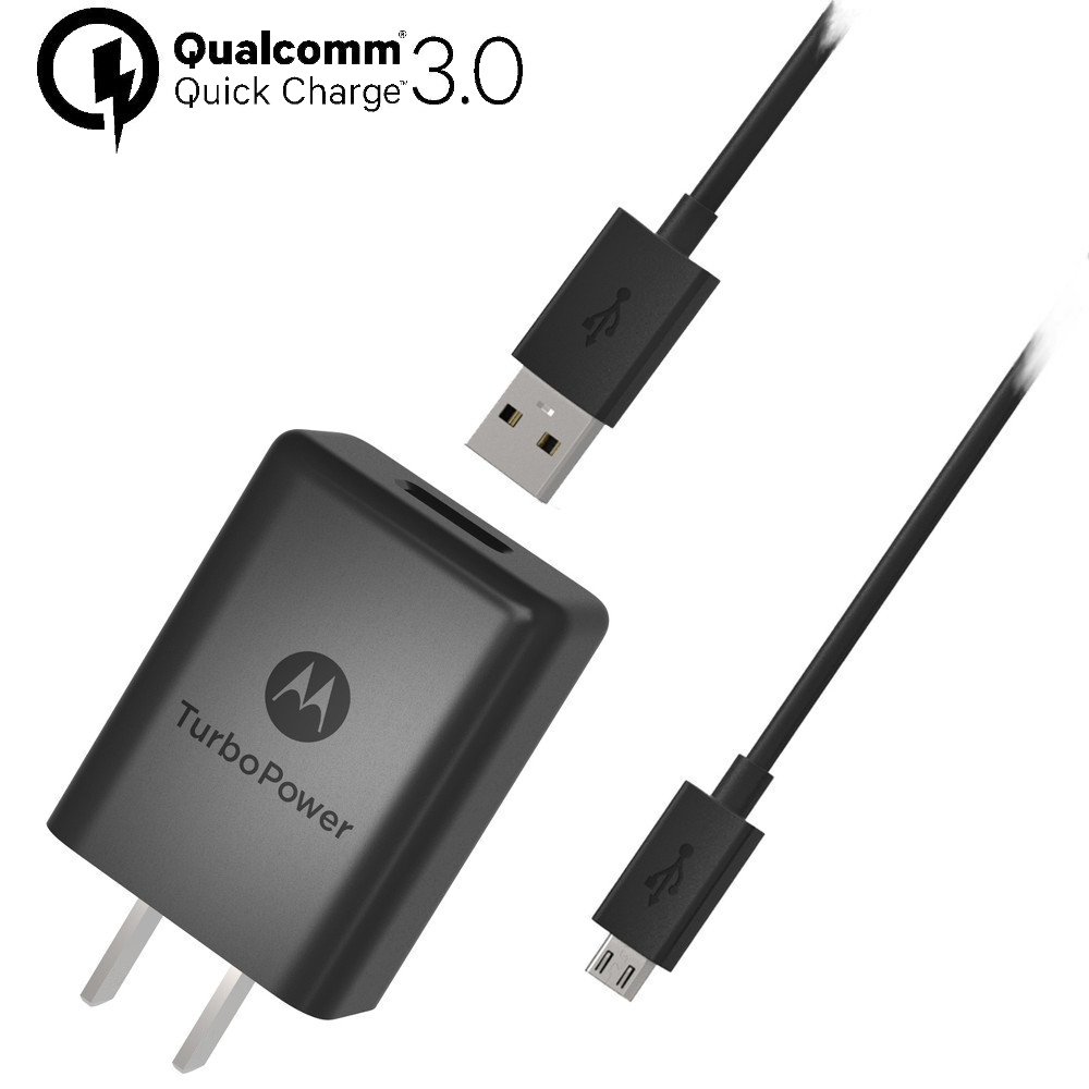 Motorola TurboPower™ 15+  Wall Charger with Micro-USB Data Cable